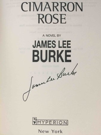 CIMARRON ROSE. by Burke, James Lee.