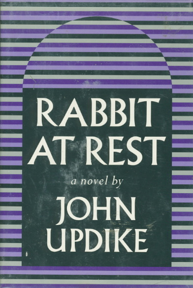Book cover picture of Updike, John. RABBIT AT REST. New York: Alfred A. Knopf, 1990.
