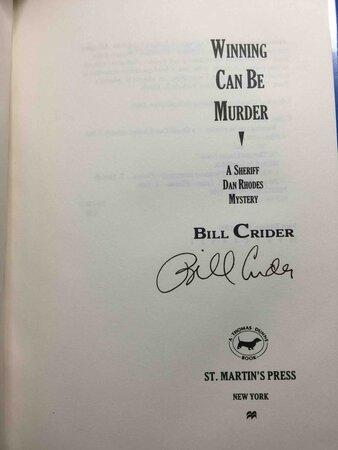 WINNING CAN BE MURDER. by Crider, Bill