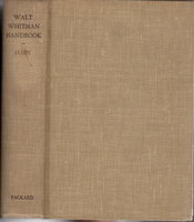 WALT WHITMAN HANDBOOK. by Allen, Gay Wilson.