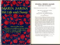 MARIA SABINA: HER LIFE AND CHANTS plus ÒThe Hallugenic Fungi of MexicoÓ by Wasson (set of 2 items) by Estrada, Alvaro; Essay and brochure by R. Gordon Wasson