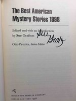 THE BEST AMERICAN MYSTERY STORIES 1998. by [Anthology, signed] Grafton, Sue, editor; Penzler, Otto, series editor, John Lescroart, Joyce Carol Oates and Walter Mosley, signed.