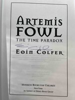 ARTEMIS FOWL: THE TIME PARADOX. by Colfer, Eoin.