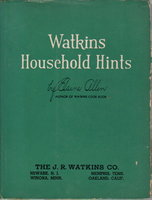 WATKINS HOUSEHOLD HINTS plus ephemera. by Allen, Elaine.