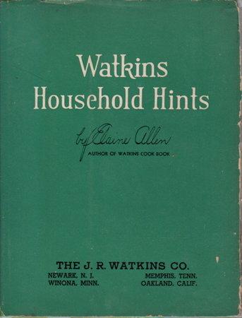 WATKINS HOUSEHOLD HINTS plus ephemera. by Allen, Elaine.