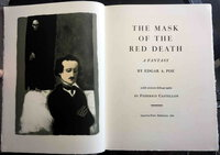 THE MASK OF THE RED DEATH: A Fantasy by Edgar A. Poe with sixteen lithographs by Federico Castellon. by [Aquarius Press] Poe, Edgar Allan, illustrated by Federico Castellon (1914-71).