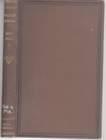 AMALIA. Tomo Primero. by Marmol, Jose (1818-1871)