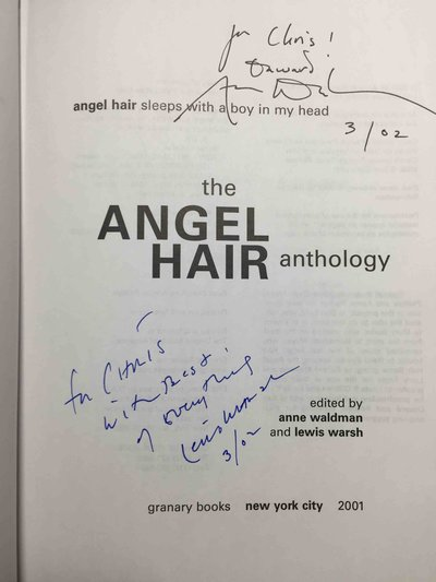 THE ANGEL HAIR ANTHOLOGY: Angel Hair Sleeps with a Boy in My Head. by [Poetry] Waldman, Anne and Lewis Warsh, editors.