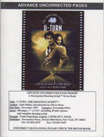 U-TURN: THE SHOOTING SCRIPT. by Ridley, John (screenplay and foreword) Stone, Olive (introduction)