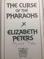 THE CURSE OF THE PHAROAHS. by Peters, Elizabeth  [Barbara Mertz].
