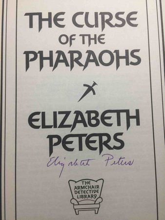 THE CURSE OF THE PHAROAHS. by Peters, Elizabeth  [Barbara Mertz].