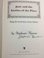 JANE AND THE GENIUS OF THE PLACE: Being the Fourth Jane Austen Mystery. by Barron, Stephanie (pseudonym of Francine Mathews.)
