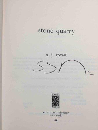 STONE QUARRY. by Rozan, S, J.