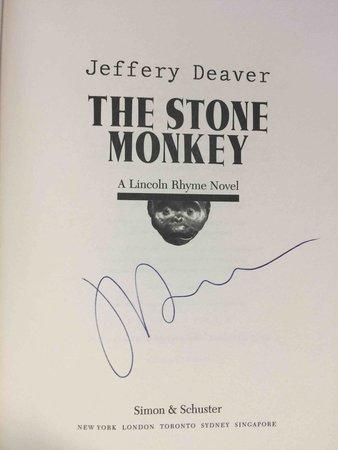 THE STONE MONKEY. by Deaver, Jeffrery.