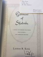GARMENT OF SHADOWS. by King, Laurie R.