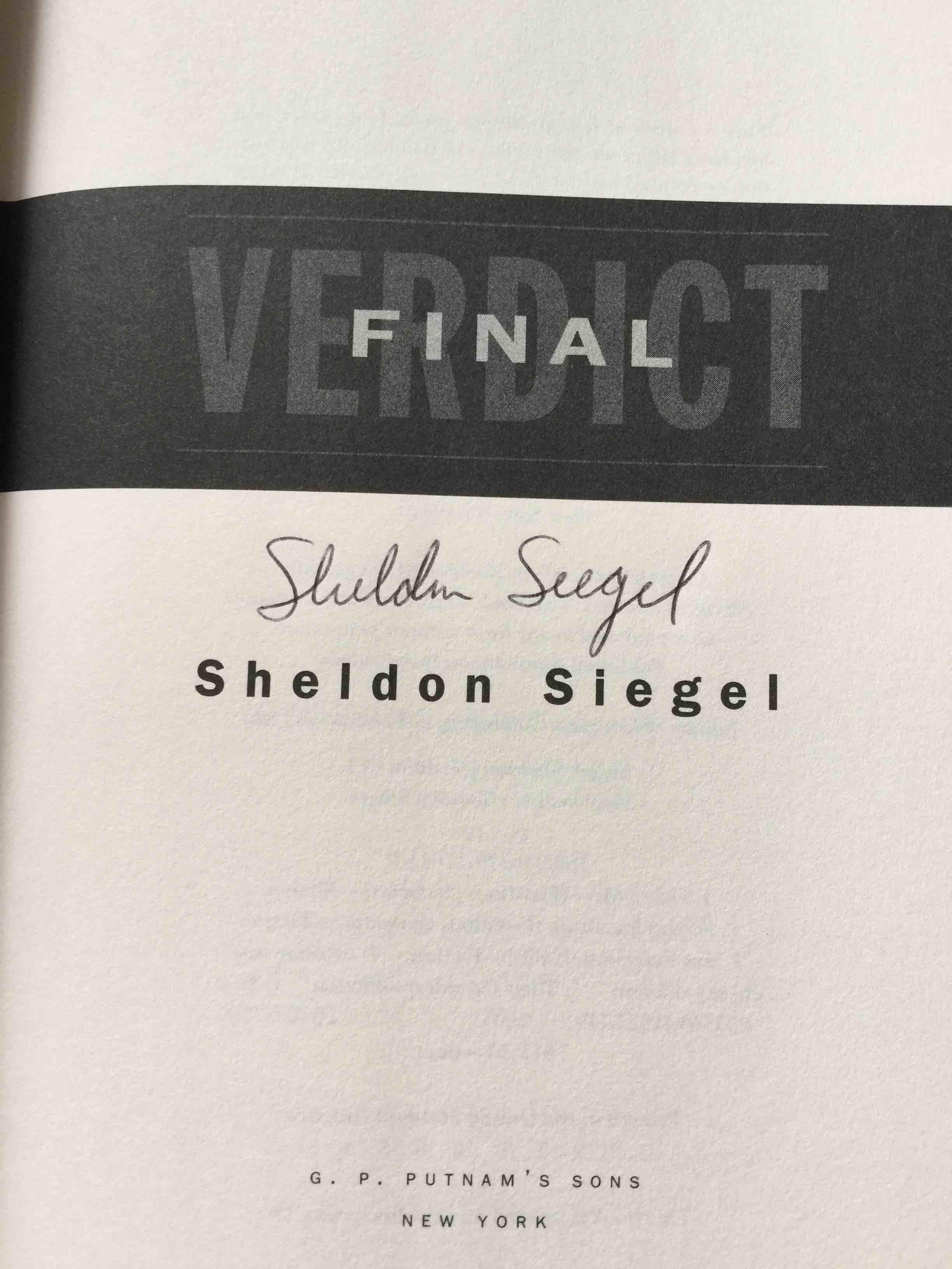 SIEGEL, SHELDON. - FINAL VERDICT.