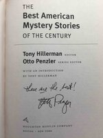 THE BEST AMERICAN MYSTERY STORIES OF THE CENTURY. by [Anthology, signed] Hillerman, Tony, editor. Otto Penzler, Sue Grafton and Bendan DuBois, signed.