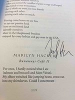 THE ARC OF LOVE: An Anthology of Lesbian Love Poems. by [Anthology, signed] Coss, Clare, Editor; Marilyn Hacker, signed.