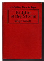 RIDDLE OF THE STORM: A Mystery Story for Boys #15. by Snell, Roy J.