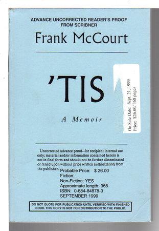 'TIS. by McCourt, Frank.
