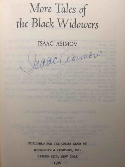 MORE TALES OF THE BLACK WIDOWERS. by Asimov, Isaac.