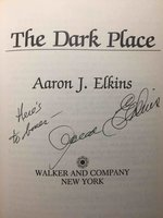 THE DARK PLACE. by Elkins, Aaron J.