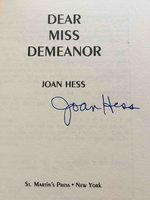 DEAR MISS DEMEANOR by Hess, Joan.
