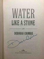 WATER LIKE A STONE. by Crombie, Deborah