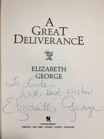 A GREAT DELIVERANCE. by George, Elizabeth.