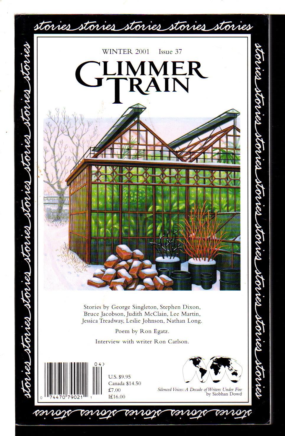BURMEISTER, SUSAN AND LINDA DAVIES,  EDITORS. - GLIMMER TRAIN: Winter 2001, Issue 37.