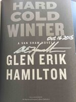 HARD COLD WINTER: A Van Shaw Novel. by Hamilton, Glen Erik.