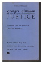 JUSTICE. by Simenon.Georges.
