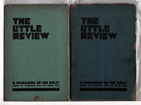 THE LITTLE REVIEW: January 1918 (Vol 4, #9), January (Vol 9, #5) , August (Vol 6, #4) , September (Vol 6, #5) and October 1919 (Vol 6, #6) - 5 issues, including 3 installments from Ulysses. by Anderson, Margaret C.; Ezra Pound et al, editors; James Joyce, William Carlos Williams, William Butler Yeats, May Sinclair and others, contributors.