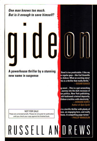 GIDEON. by Andrews, Russell (pseudonym of Peter Gathers and David Handler)
