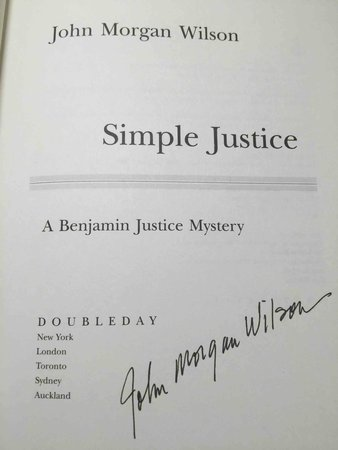SIMPLE JUSTICE. by Wilson, John Morgan.