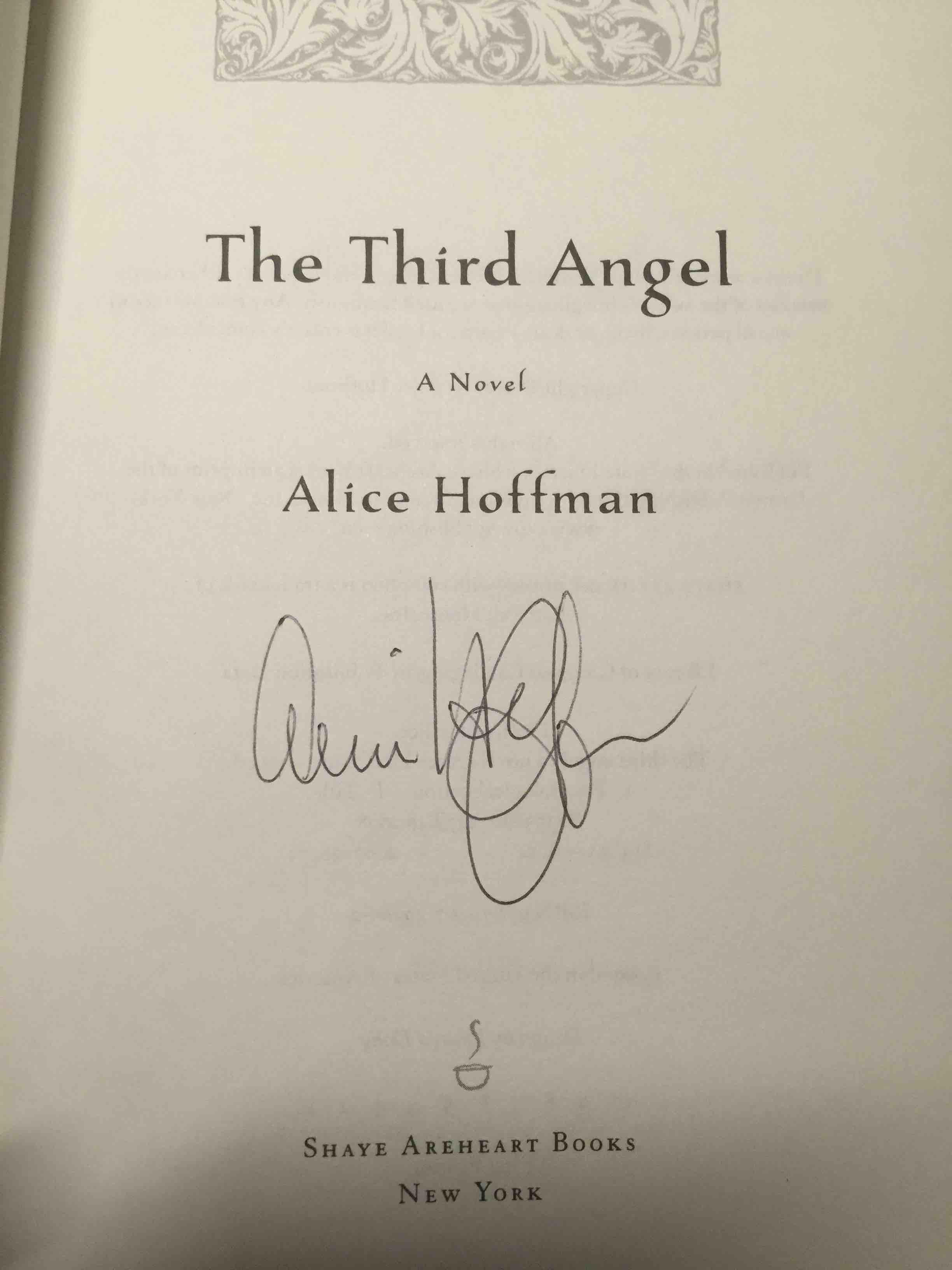 HOFFMAN, ALICE. - THE THIRD ANGEL.