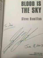 BLOOD IS THE SKY. by Hamilton, Steve.