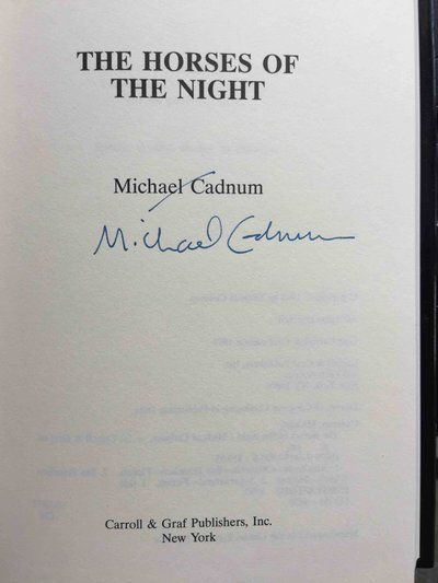 THE HORSES OF THE NIGHT. by Cadnum, Michael.