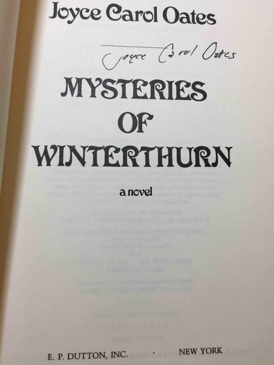 MYSTERIES OF WINTERTHURN. by Oates, Joyce Carol.