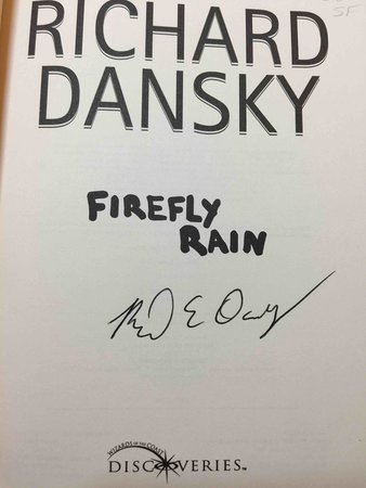 FIREFLY RAIN. by Dansky, Richard.