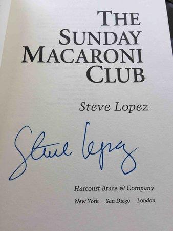 THE SUNDAY MACARONI CLUB by Lopez, Steve