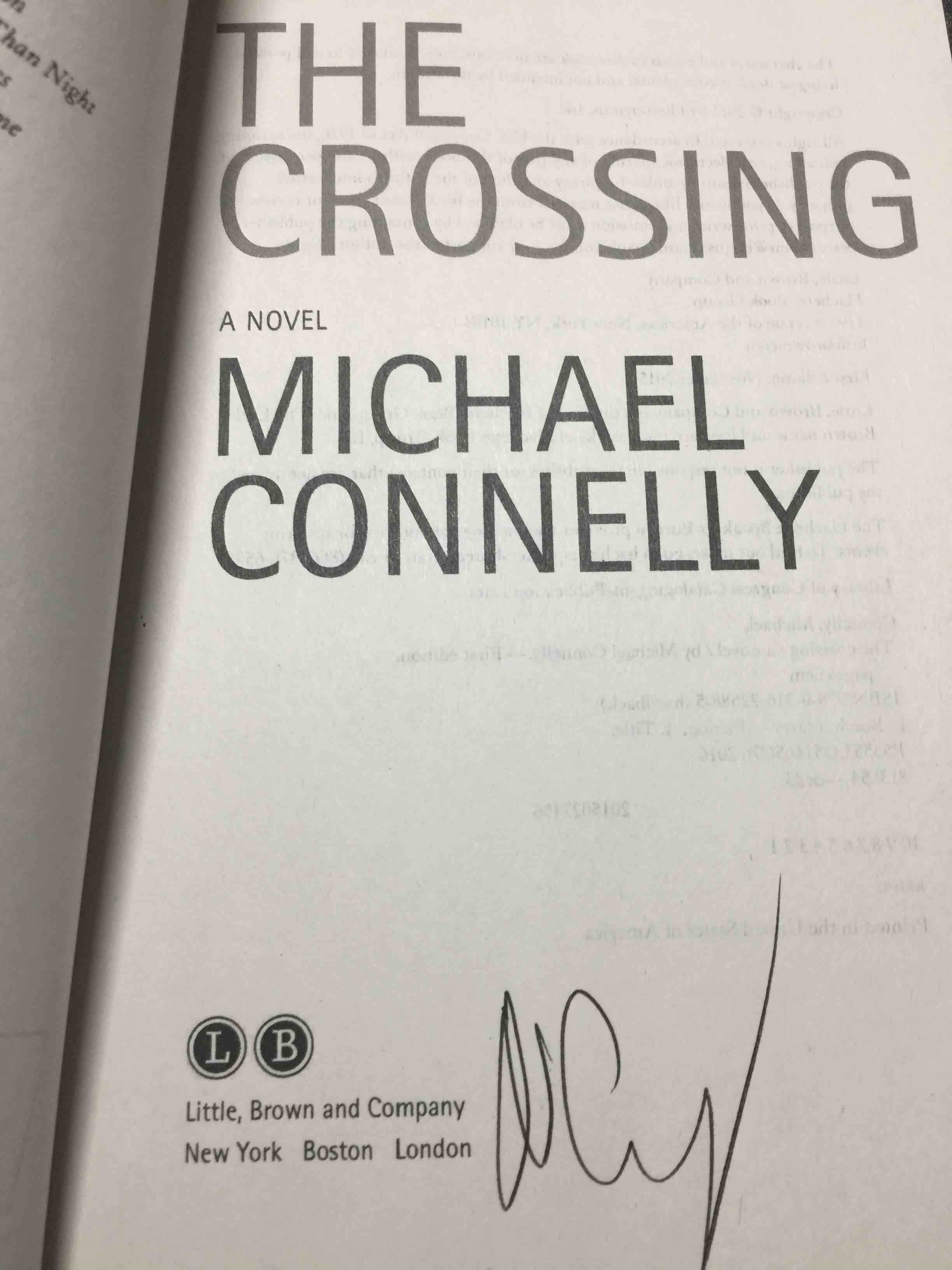 THE CROSSING  by Connelly, Michael  - bookfever com
