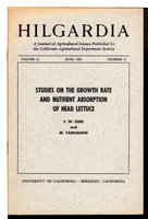 """Studies on the Growth Rate and Nutrient Absorption of Head Lettuce"" in HILGARDIA: A Journal of Agricultural Science Published by the California Agricultural Experiment Station; Volume 32, Number 11, June 1962. by Zink, F W. and M. Yamaguchi.."