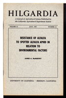 """Resistance of Alfalfa to Spotted Alfalfa Aphid in Relation to Environmental Factors"" in HILGARDIA: A Journal of Agricultural Science Published by the California Agricultural Experiment Station; Volume 32, Number 12, July 1962. by McMurtry, James A.."