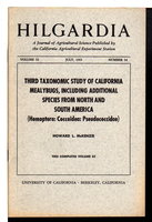 """Third Taxonomic Study of California Mealybugs, Including Additional Specimens from North and South America"" in HILGARDIA: A Journal of Agricultural Science Published by the California Agricultural Experiment Station; Volume 32, Number 14, July 1962. by McKenzie, Howard L.."
