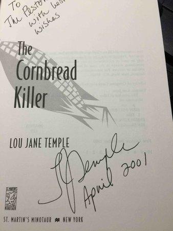 THE CORNBREAD KILLER. by Temple, Lou Jane.