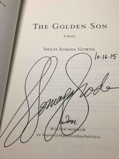 THE GOLDEN SON. by Gowda, Shilpi Somaya .