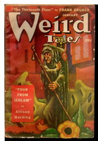WEIRD TALES: Vol. 41, No. 2, January, 1949. by D. McIlwraith editor; Robert Heinlein, Frank Gruber, John D. MacDonald, Robert Bloch, Eric Frank Russell and others.