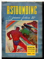 ASTOUNDING SCIENCE FICTION. March 1942, Volume 29, No. 1. by Campbell,, John W. Jr., editor; Anson MacDonald (aka Robert Heinlein), Isaac Asimov and others, contributors.