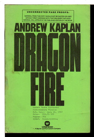 DRAGONFIRE. by Kaplan, Andrew.